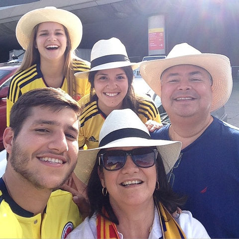 Our family, back in Colombia