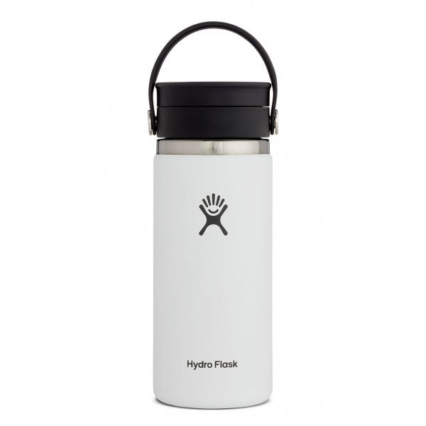 HYDRO FLASK 16OZ WIDE MOUTH W/ FLEX SIP LID (WHITE)