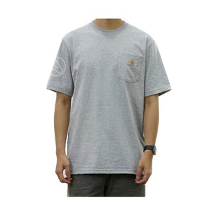 CARHARTT M WORKWEAR POCKET S/S TEE (HEATHER GREY) - k87hgy - Ateaze Canada