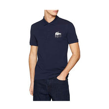 Load image into Gallery viewer, LACOSTE SLIM FIT 3D CROC PETIT PIQUÉ POLO (166-NAVY) - PH6402 - Ateaze Canada