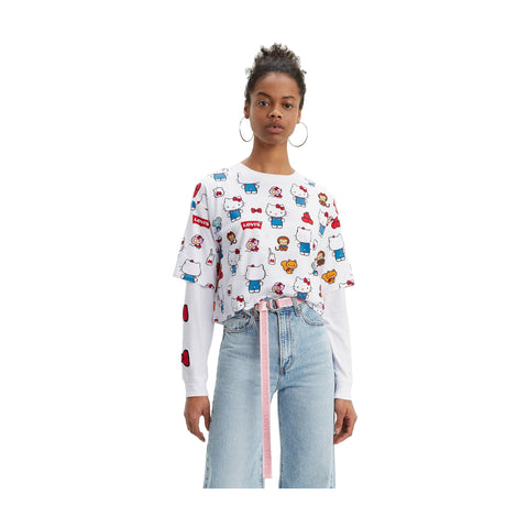 LEVI'S x HELLO KITTY GRAPHIC OVERSIZE TEE - 76157-0012 - Ateaze Canada