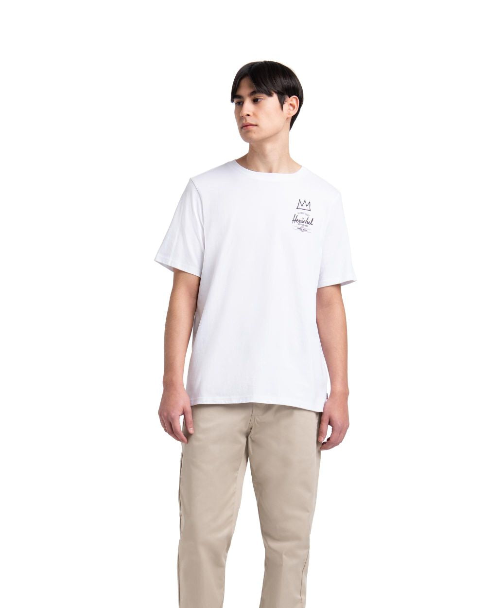HERSCHEL SUPPLY M BASQUIAT TEE (BRIGHT WHITE)