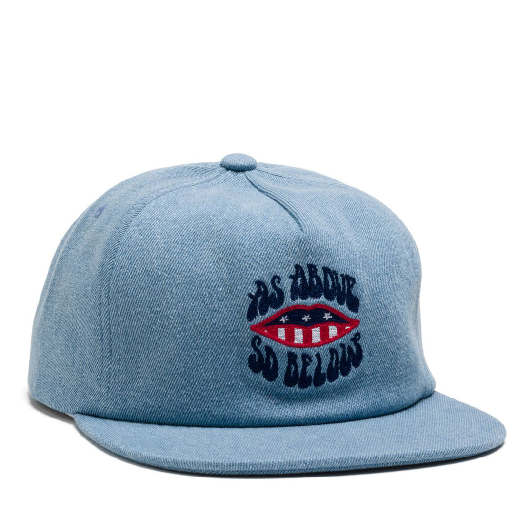 HUF ABOVE AND BELOW SNAPBACK DENIM - HT00096 - Ateaze Canada