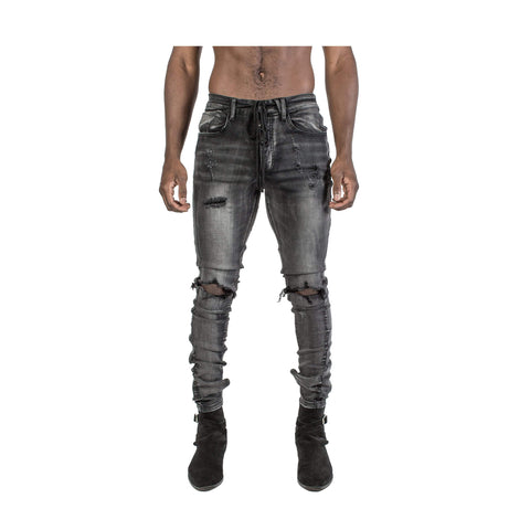 KOLLAR BLOWN OUT KNEE DENIM - BOKD02 - Ateaze Canada