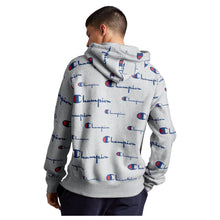 Load image into Gallery viewer, Champion Life® Men's Reverse Weave® Pullover Hoodie, All Over Logo (Multi Scale Script) - S2974 - Ateaze Canada