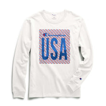"Load image into Gallery viewer, CHAMPION HERITAGE L/S TEE - ""C"" LOGO QUILT USA - Ateaze Canada"