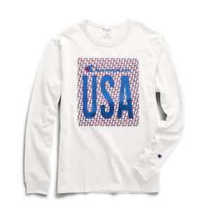 "CHAMPION HERITAGE L/S TEE - ""C"" LOGO QUILT USA - Ateaze Canada"