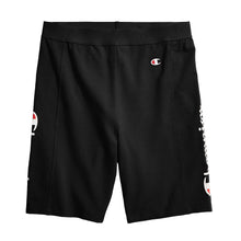 Load image into Gallery viewer, Champion Life® Women's High Waist Streetwear Bike Shorts, Vertical Logo