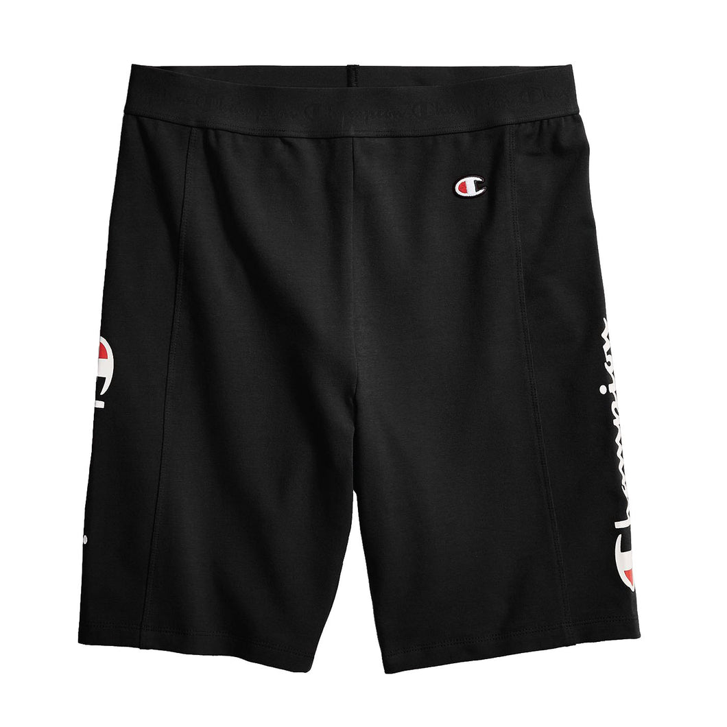 Champion Life® Women's High Waist Streetwear Bike Shorts, Vertical Logo