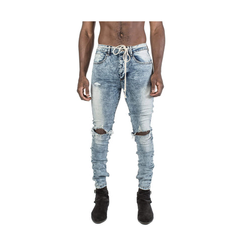 KOLLAR BLOWN OUT KNEE DENIM - bokd01 - Ateaze Canada
