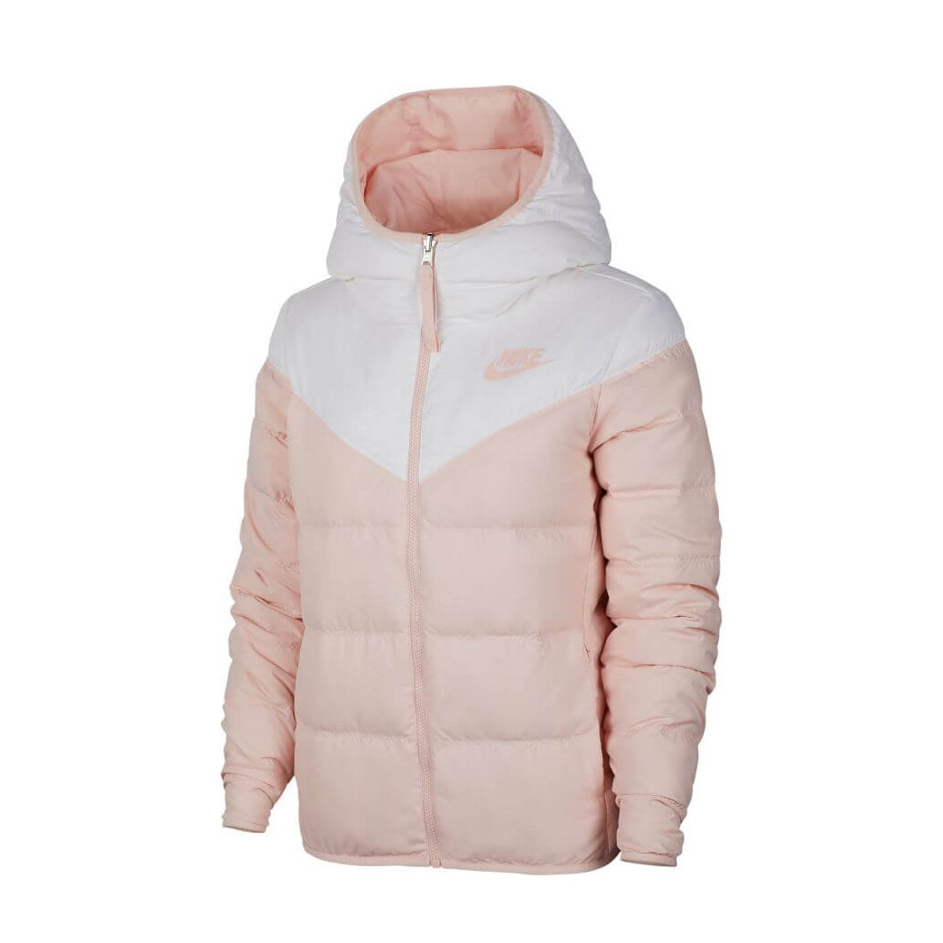 NIKE W NSW WINDRUNNER DOWN FILL REVERSIBLE JACKET (WHITE/ECHO PINK) - 939438-101 - Ateaze Canada