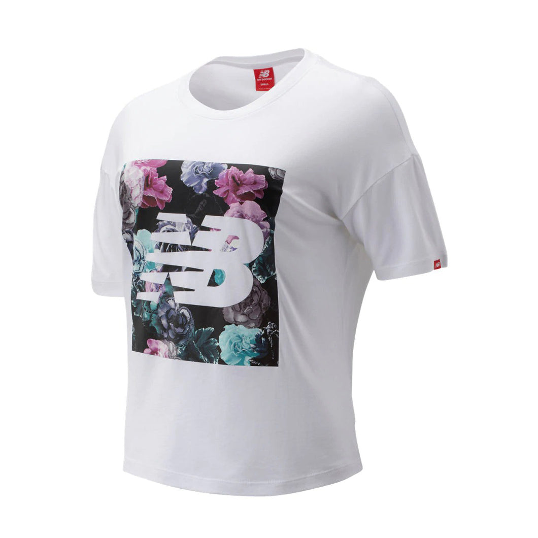NEW BALANCE W ESSENTIALS IN BLOOM TEE - WT93537 - Ateaze Canada
