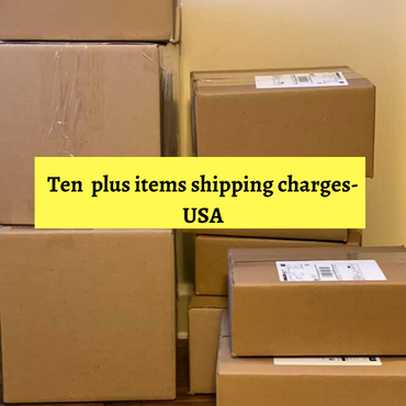 Shipping charges for 10+ items-USA