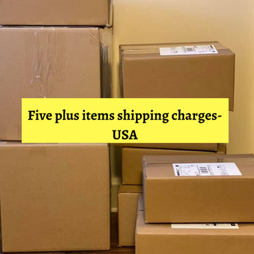 Shipping charges for Five+ items-USA