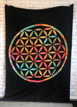 Boho Tiedye Multiple color  Circle Tapestry