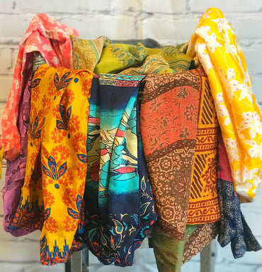 Pack of Five Saree drawstring bags