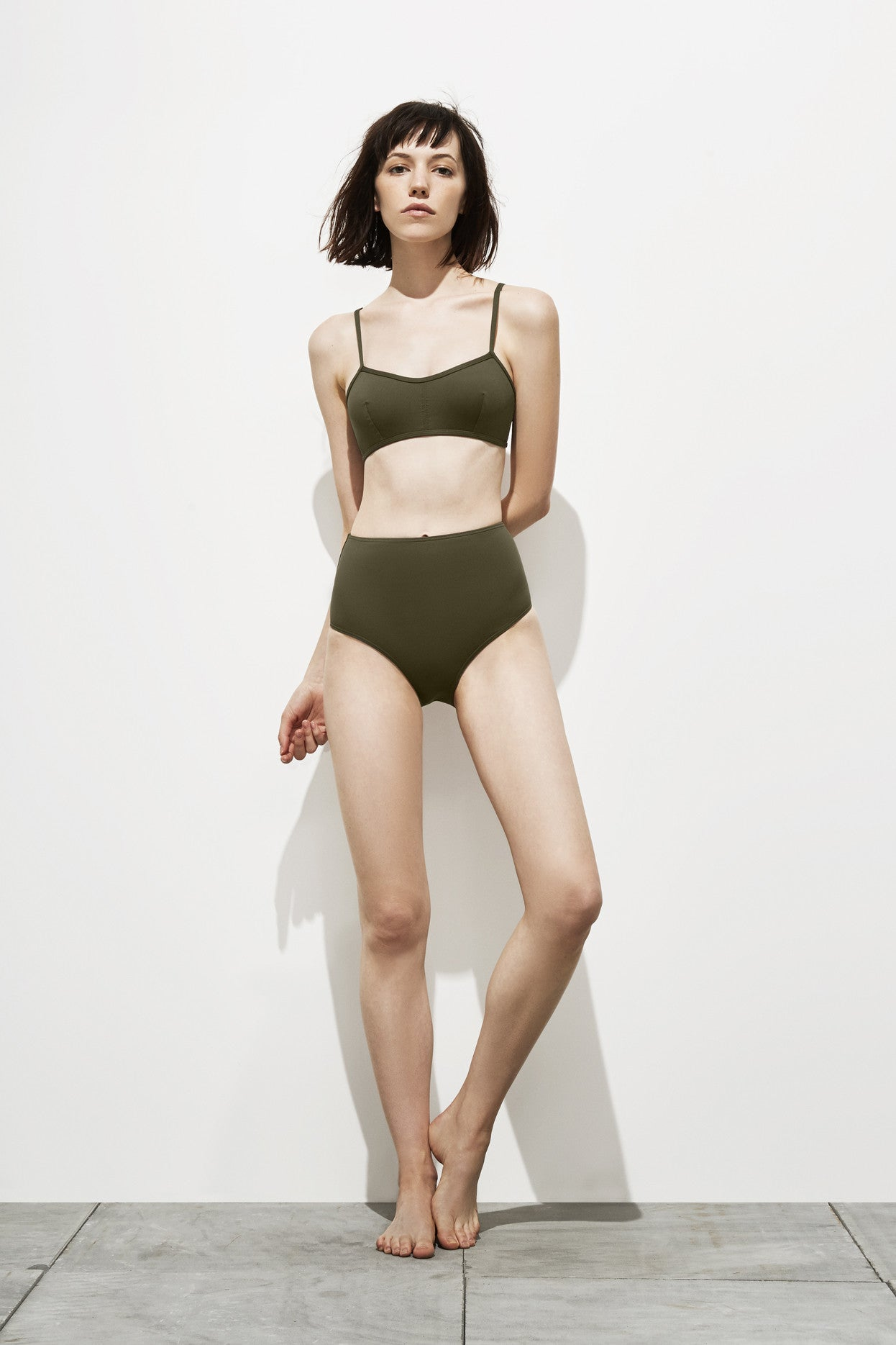 Astrid – Deep Khaki - Two Piece swimwear - Her.