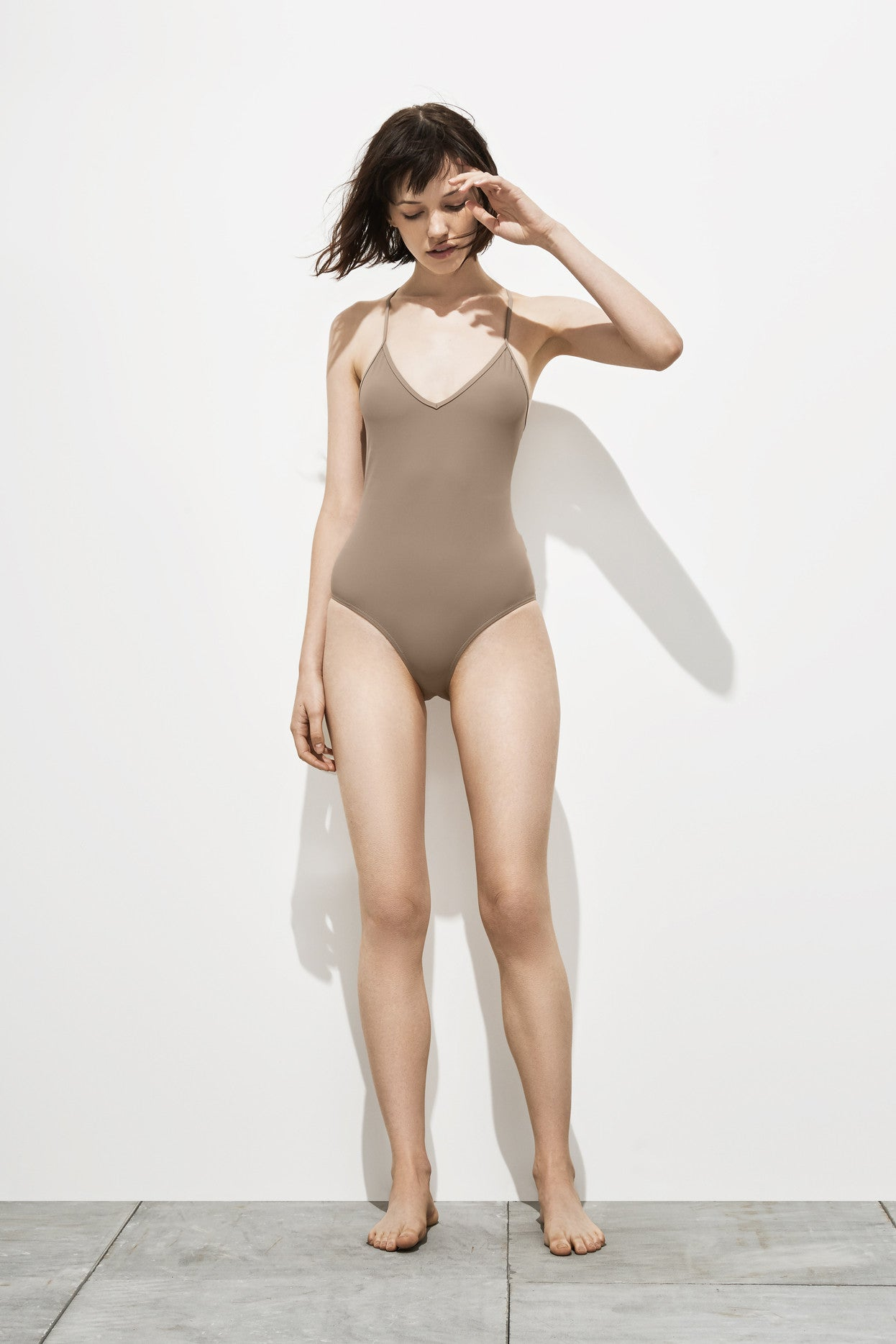 Dylan – Stone Taupe - One Piece swimwear - Her.