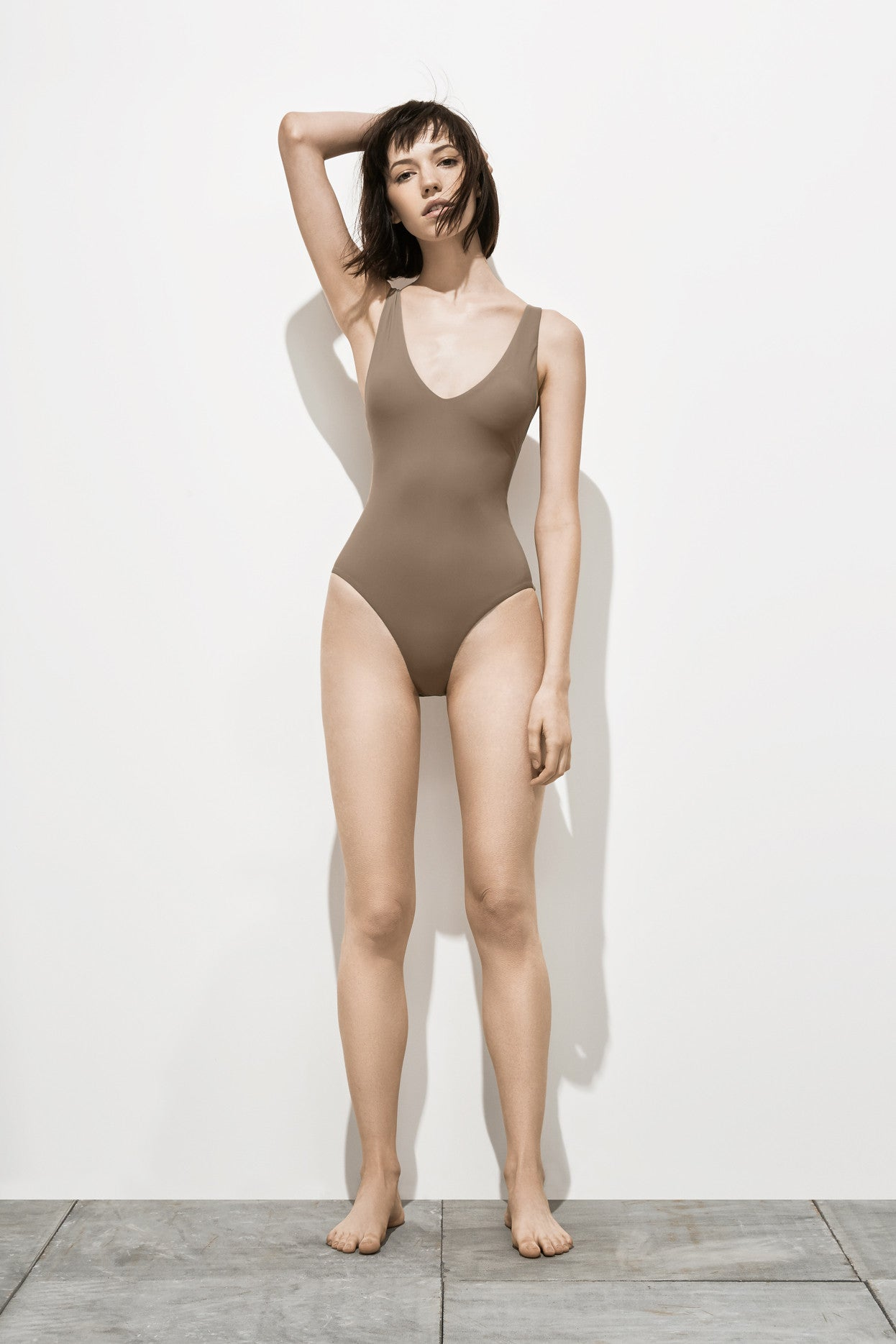 Ester – Stone Taupe - One Piece swimwear - Her.