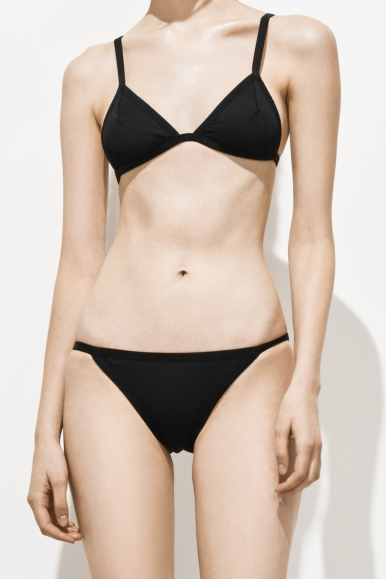 Eve Ribbed – Boston Black - Two Piece swimwear - Her.