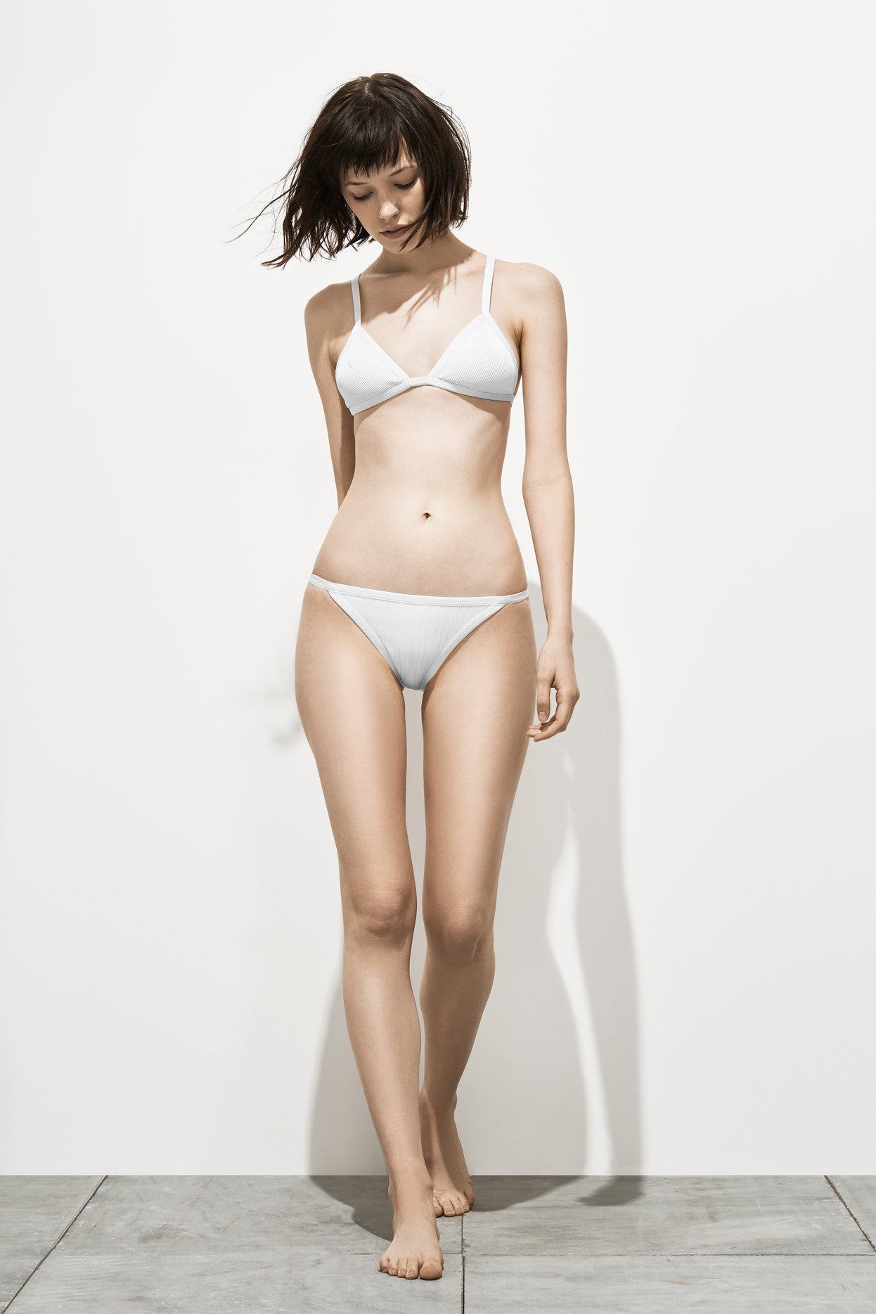 Eve Ribbed – Lace White - Two Piece swimwear - Her.