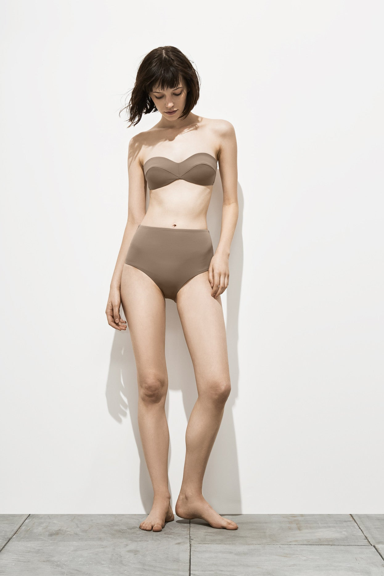 Frances – Stone Taupe - Two Piece swimwear - Her.