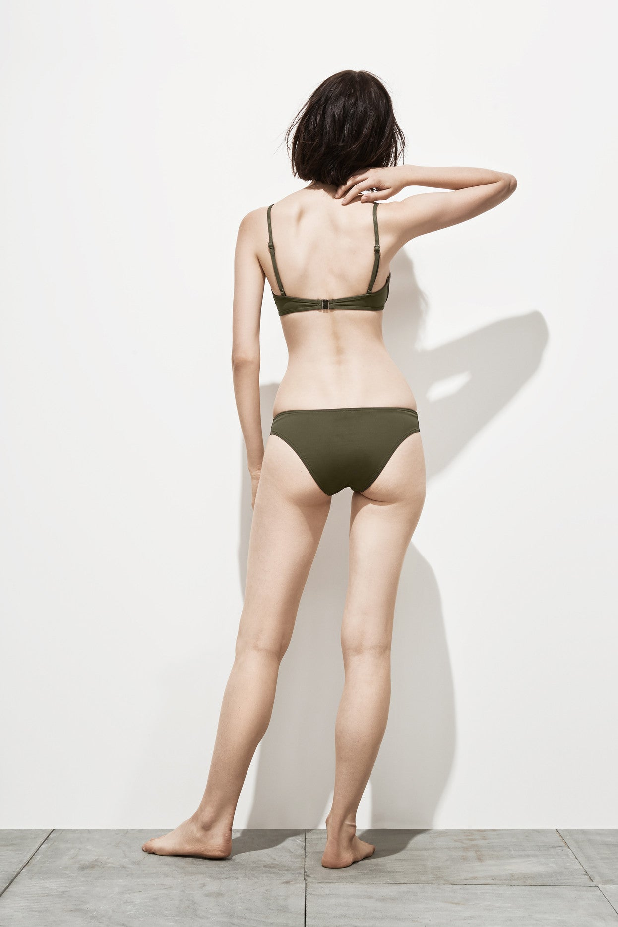 Isabel – Deep Khaki - Two Piece swimwear - Her.