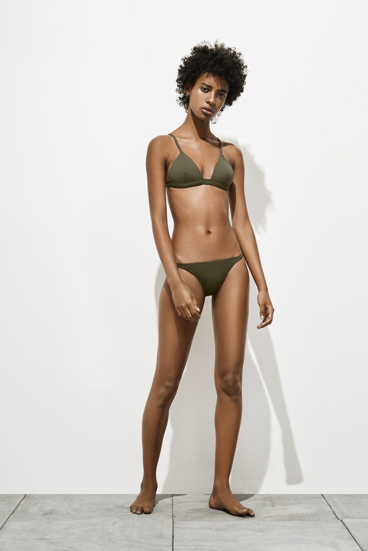 Mila – Deep Khaki - Two Piece swimwear - Her.