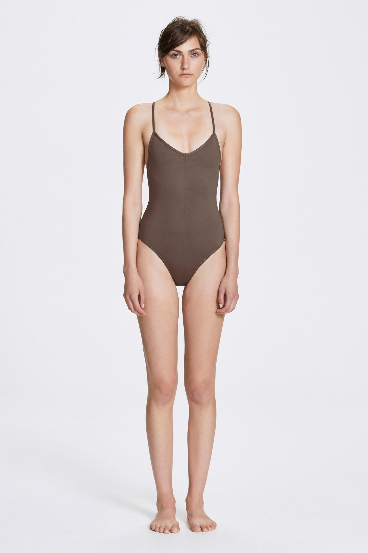 Georgia one-piece - Terra brown - Swim one piece - Her Line