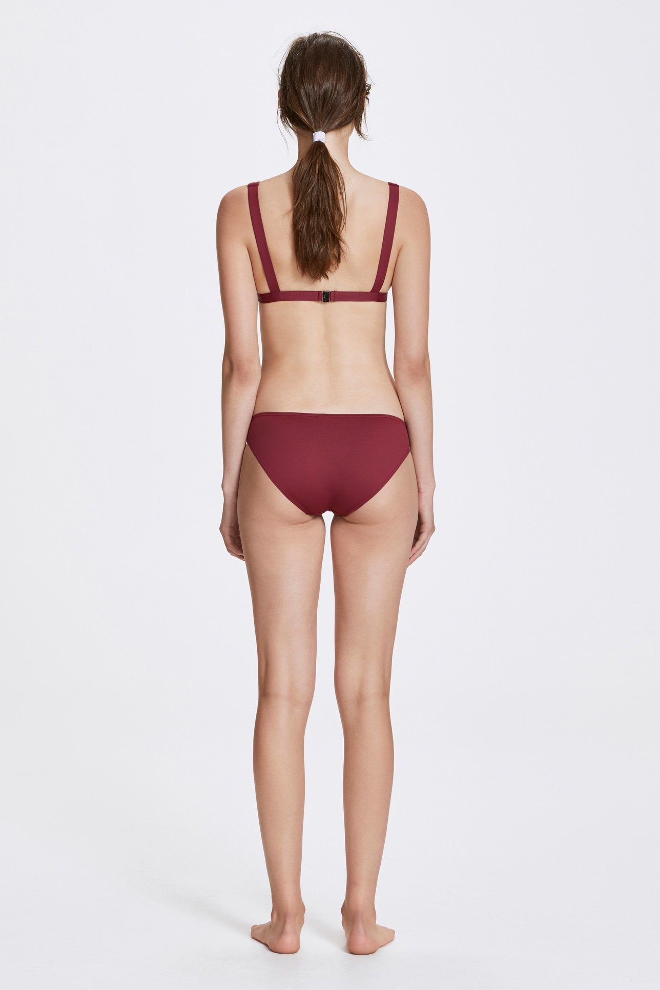 Audrey top - Rhubarb red - Swim top - Her Line
