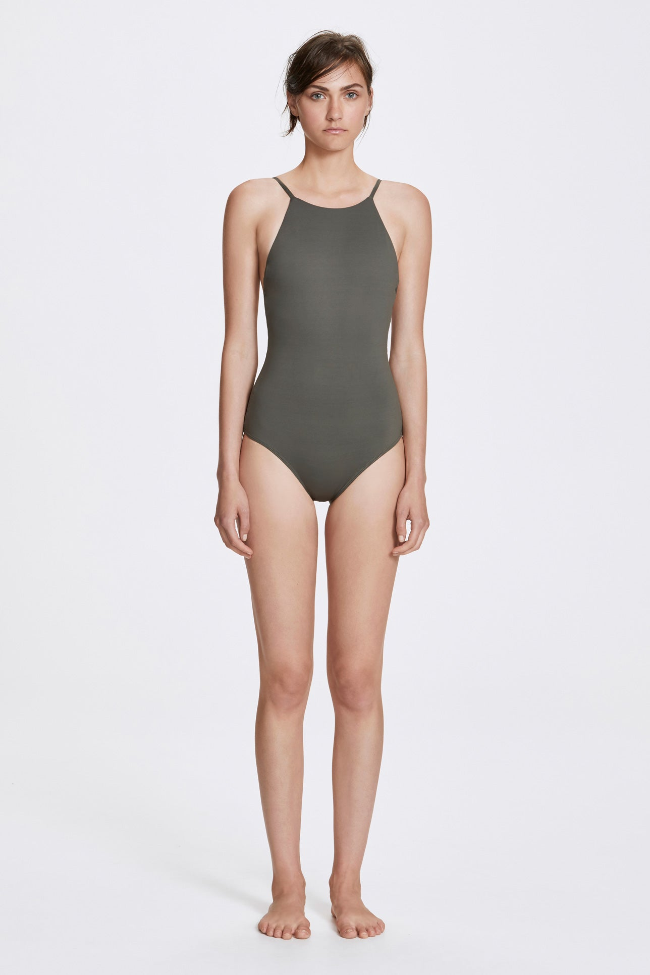 Jill one-piece - Deep khaki - Swim one piece - Her Line