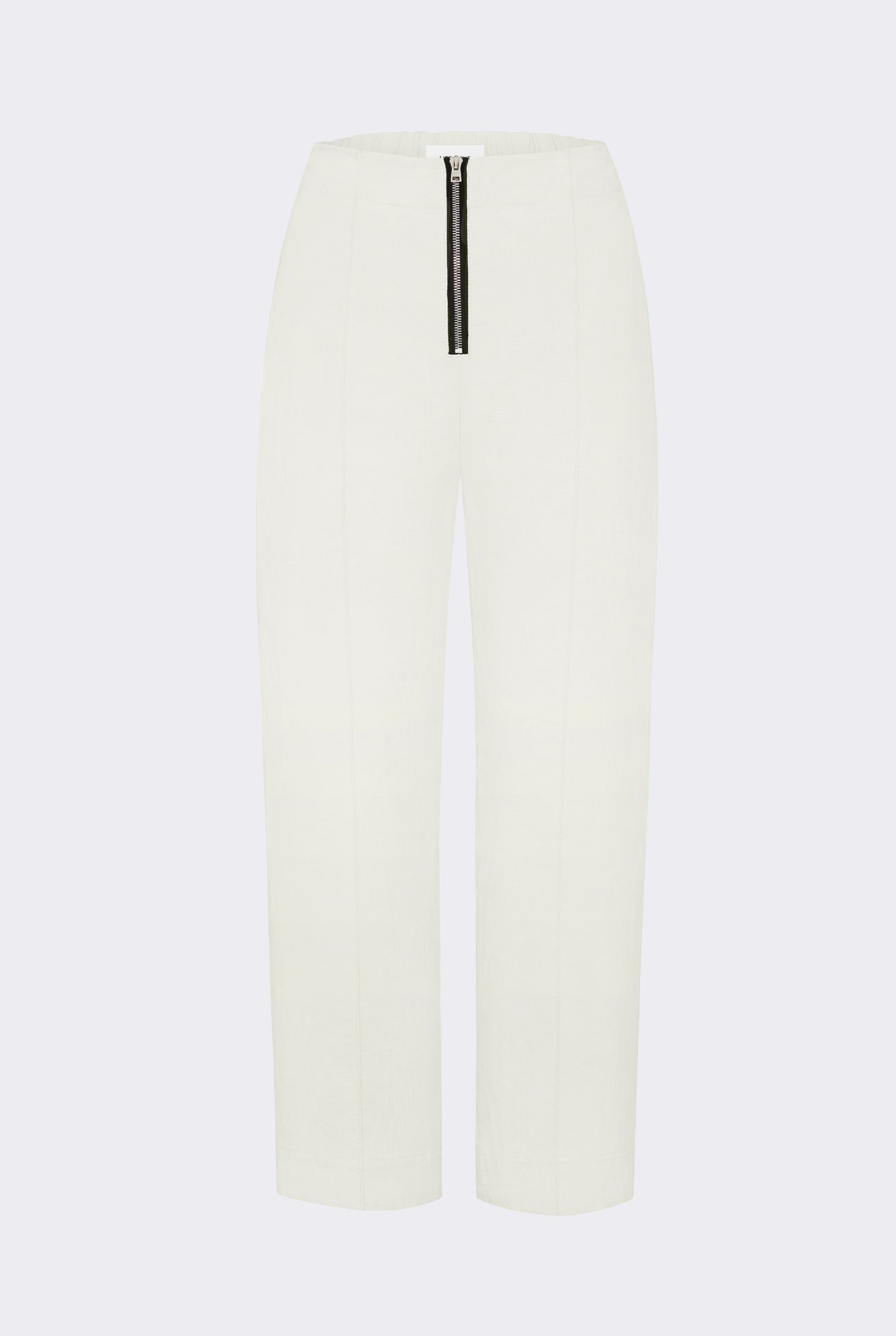 Exposed cropped leg trousers - Heavy linen - Natural