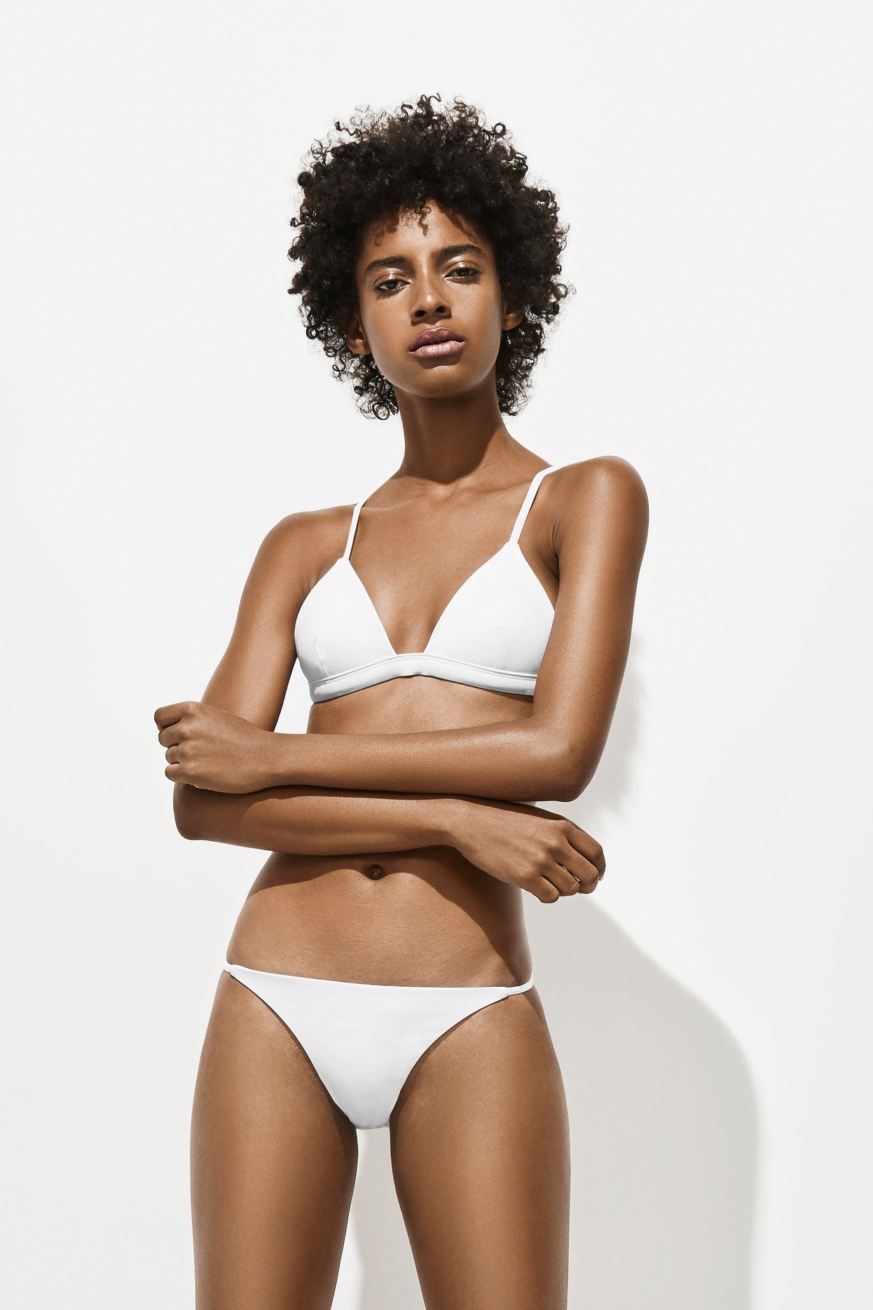 Side Strap Brief – Milk White