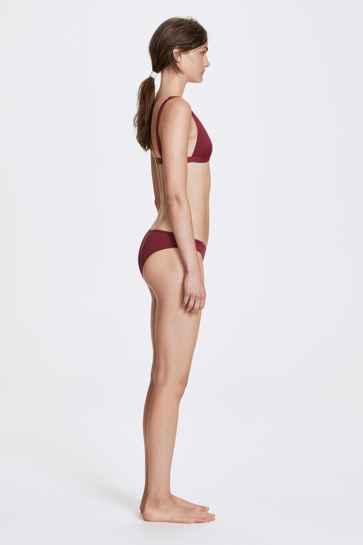 Her Line Audrey Swimwear Top Rhubarb Red Side