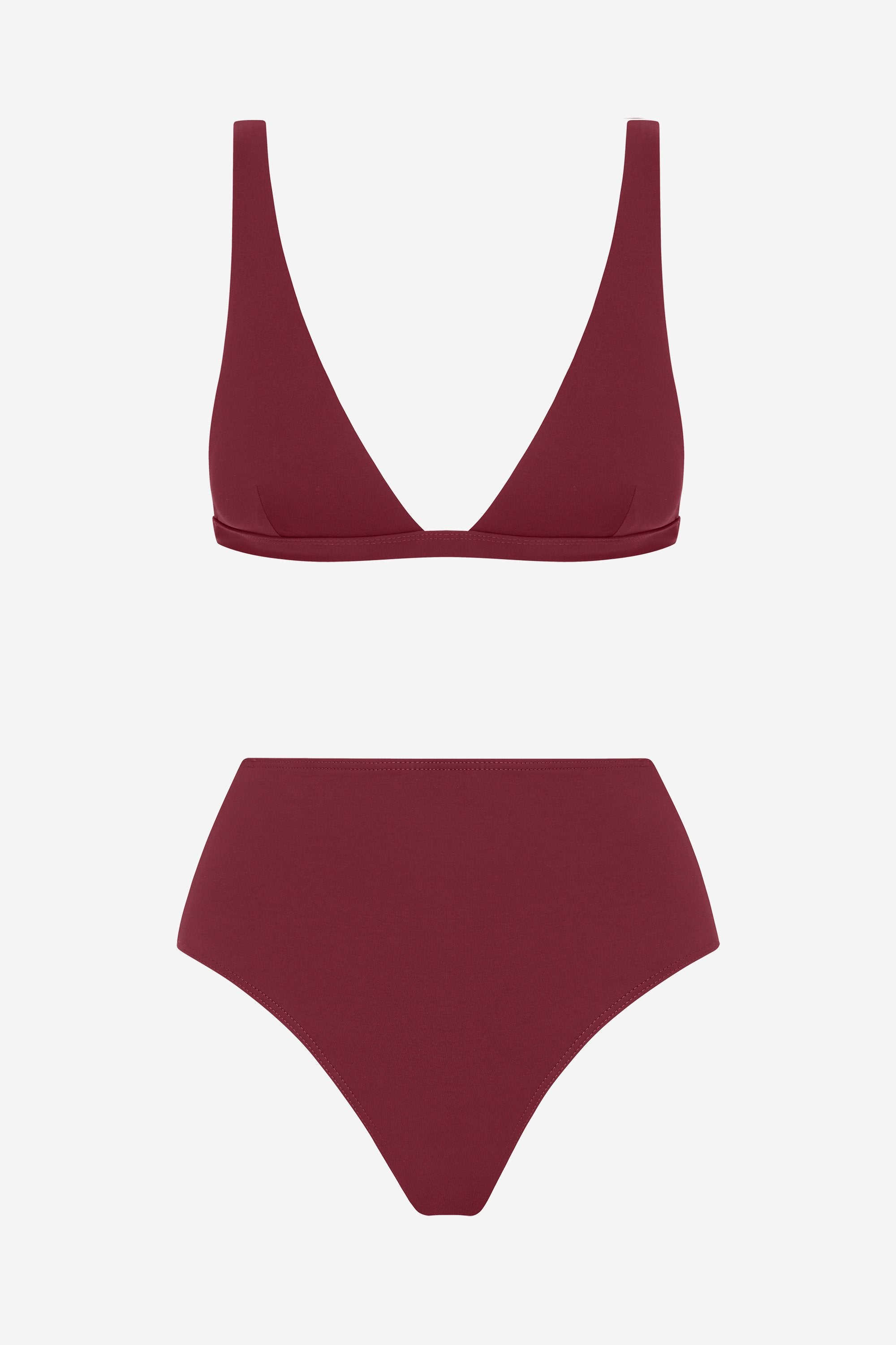 Audrey two-piece set - Rhubarb red - Swim two piece - Her Line