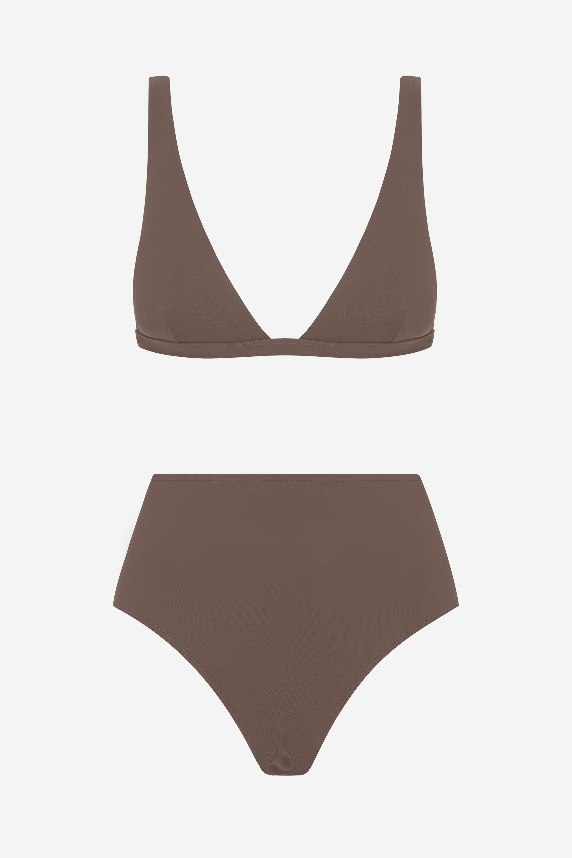 Audrey two-piece set - Terra brown - Swim two piece - Her Line
