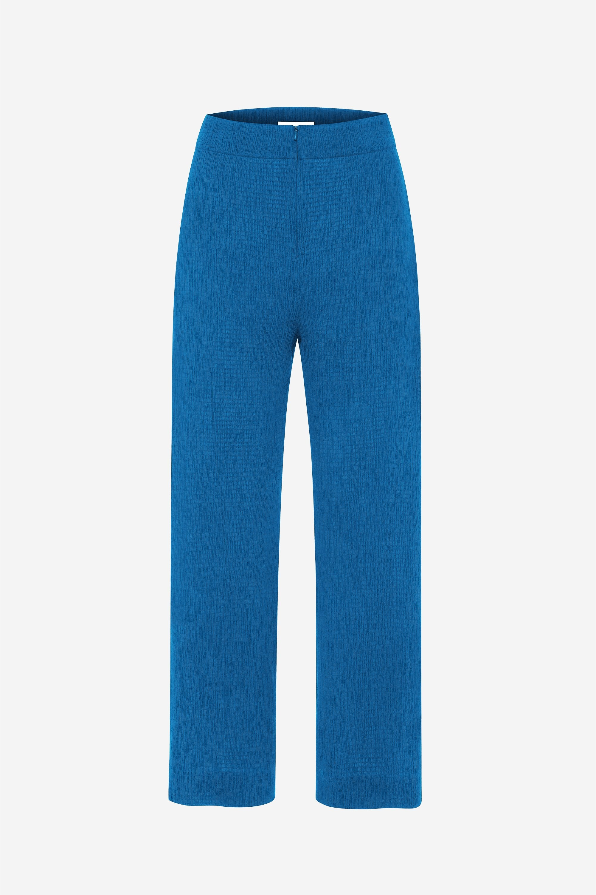 Invisible stretch pant - Shirred voile - True blue - Resortwear trouser - Her Line