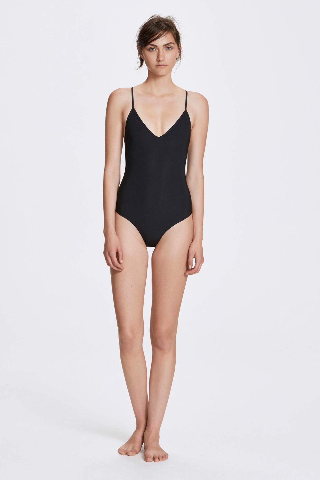 Her Line Dylan Swimwear One Piece Coal Black Front