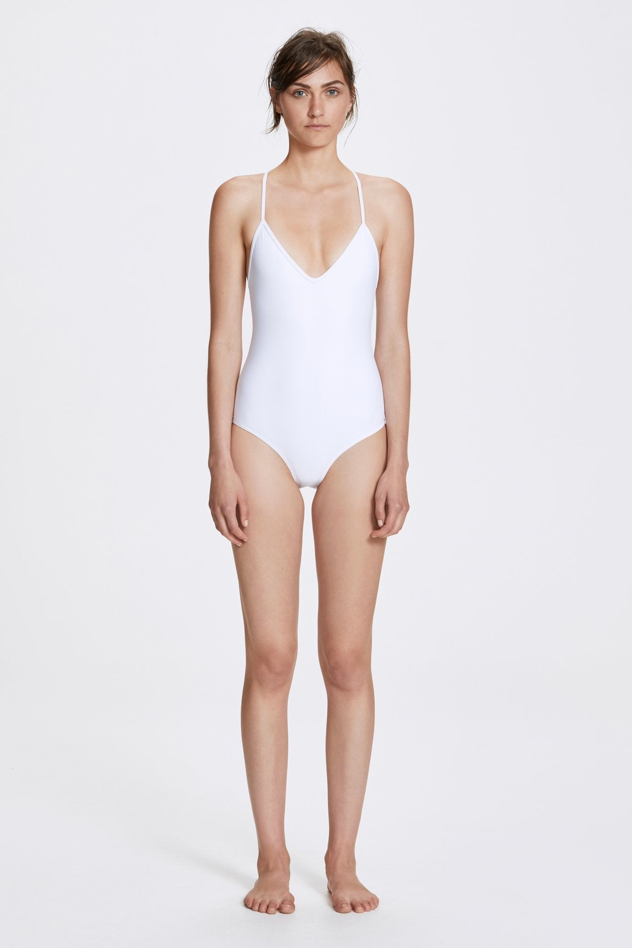 Her Line Dylan Swimwear One Piece Milk White Front