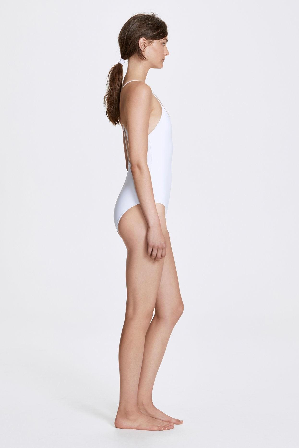 Her Line Dylan Swimwear One Piece Milk White Side