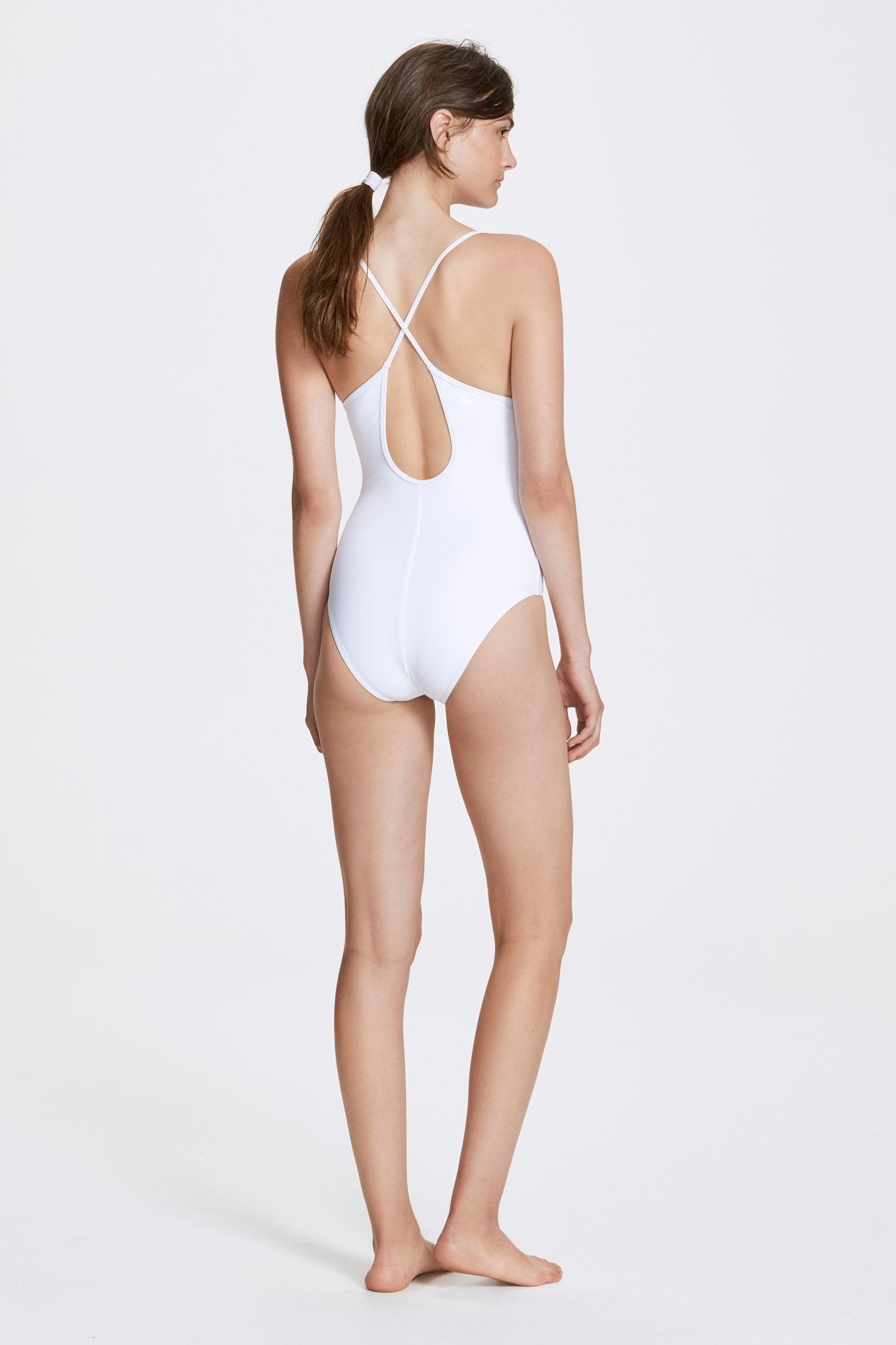 Her Line Dylan Swimwear One Piece Milk White Back
