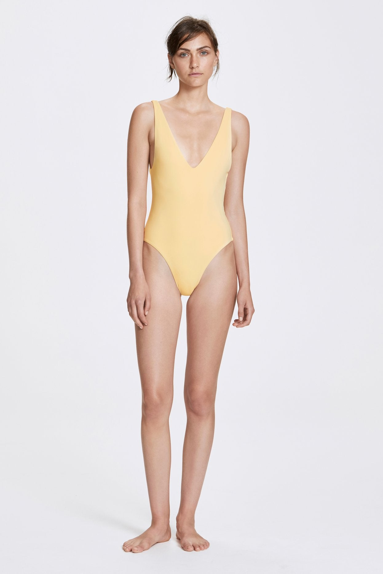 Her Line Ester Swimwear One Piece Butter Yellow Front