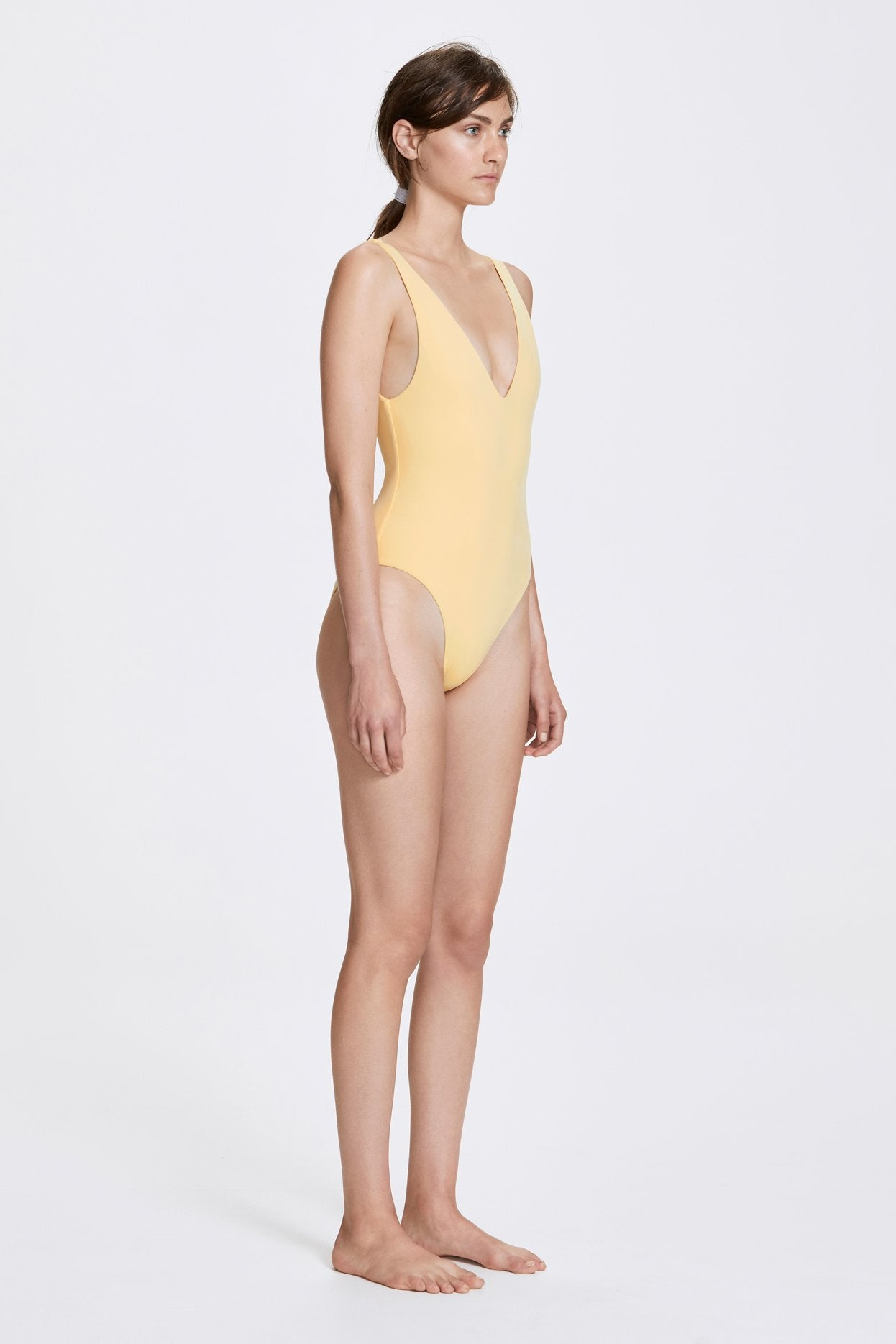 Her Line Ester Swimwear One Piece Butter Yellow Side