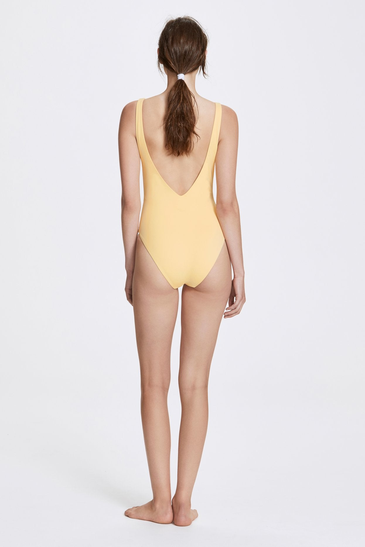Her Line Ester Swimwear One Piece Butter Yellow Back