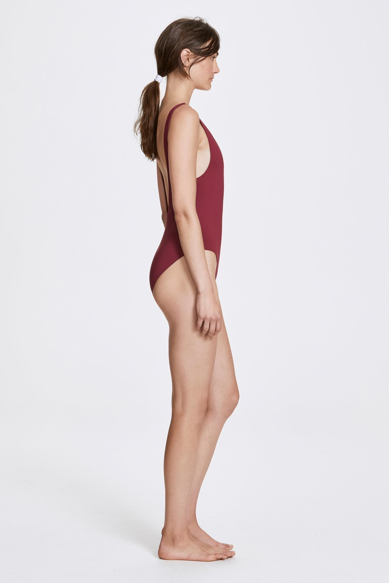 Her Line Ester Swimwear One Piece Rhubarb Red Side