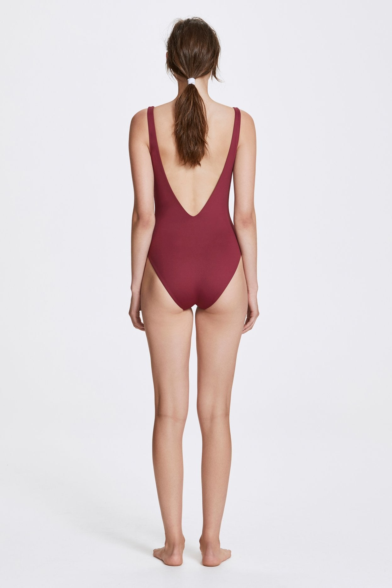 Her Line Ester Swimwear One Piece Rhubarb Red Back