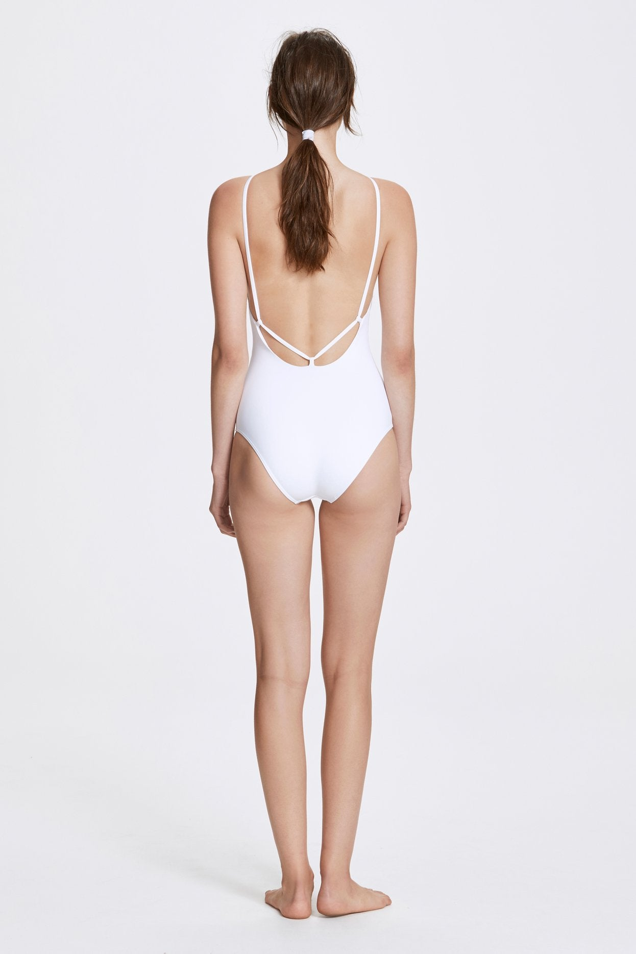 Her Line Jill Swimwear One Piece Milk White Back
