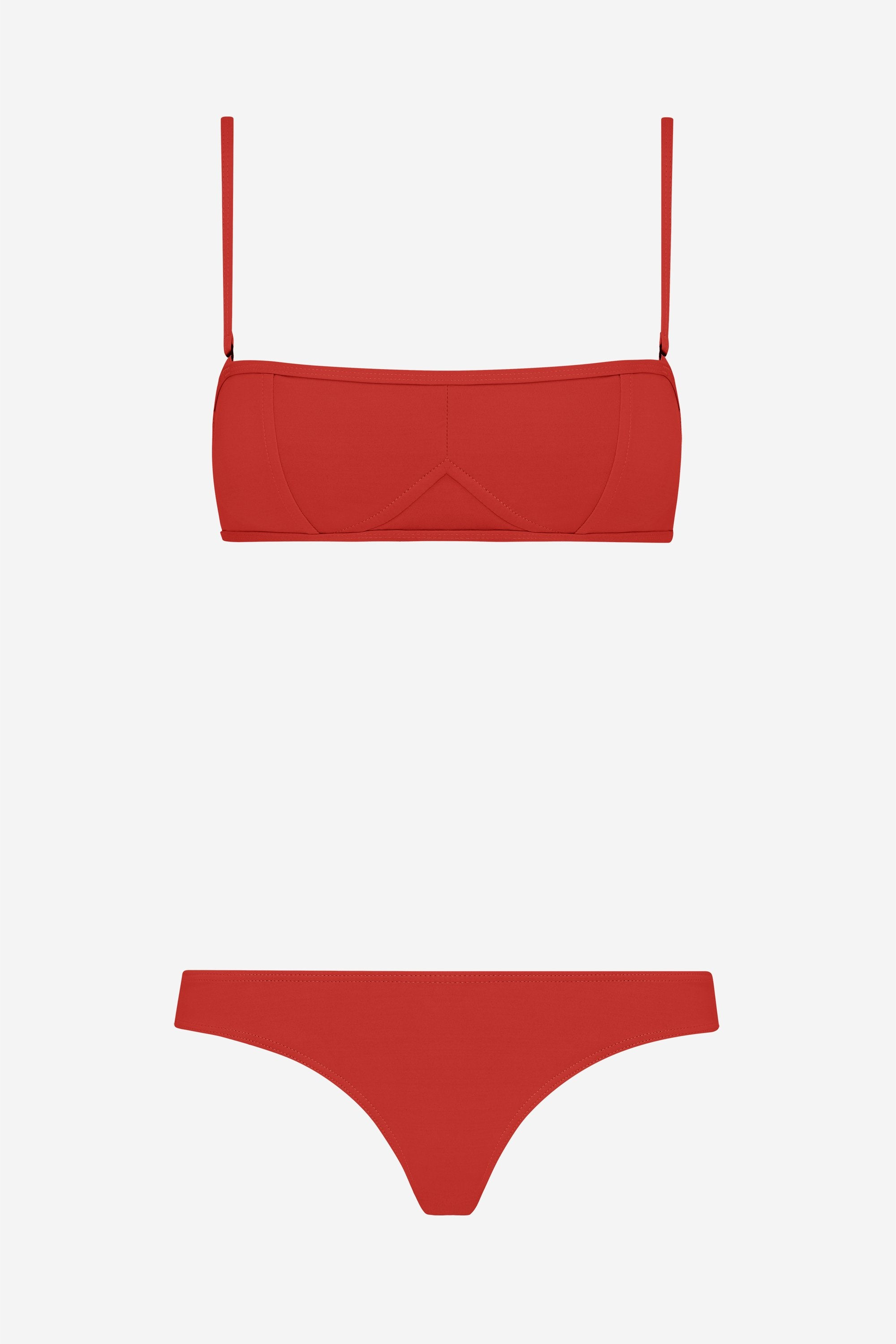 Lily two-piece set - Lava red - Swim two piece - Her Line