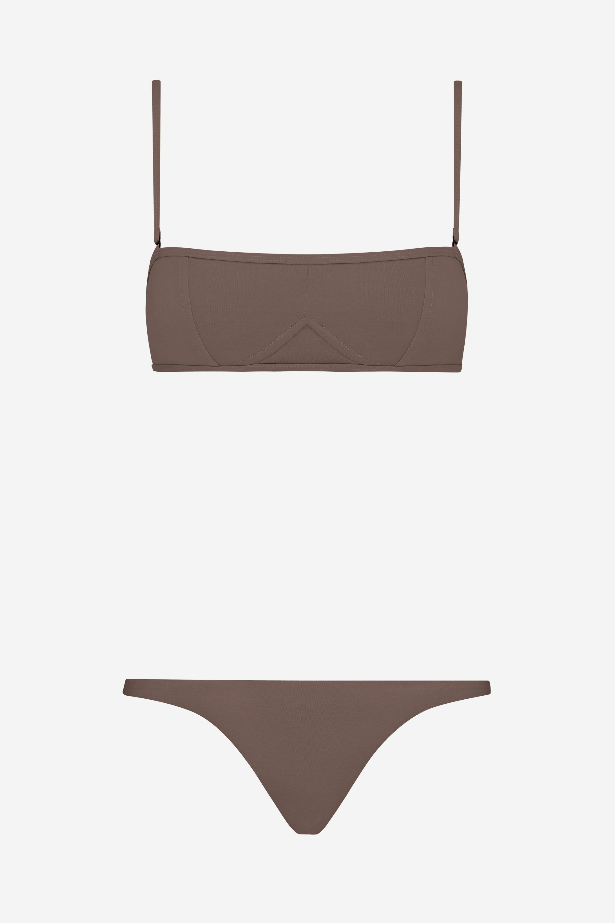 Lily two-piece set - Terra brown - Swim two piece - Her Line