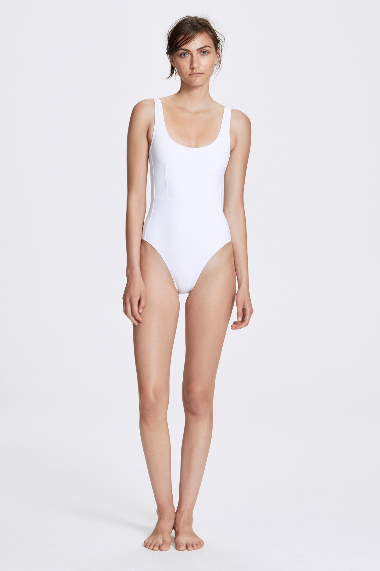 Her Line Marni Swimwear One Piece Milk White Front